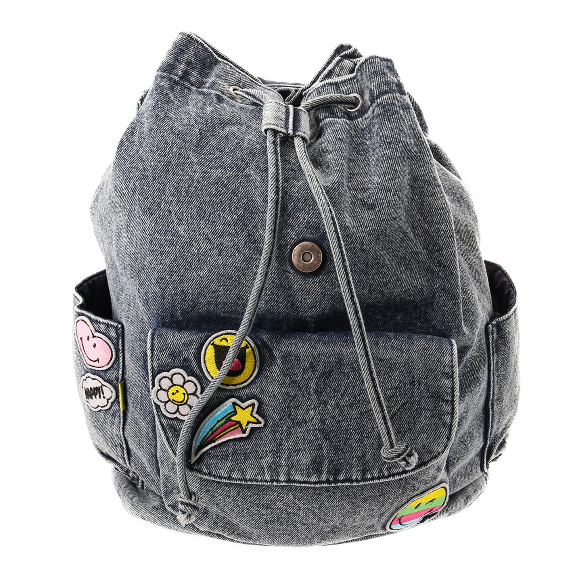 sac dos en jean avec cussons smiley claire 39 s fr. Black Bedroom Furniture Sets. Home Design Ideas