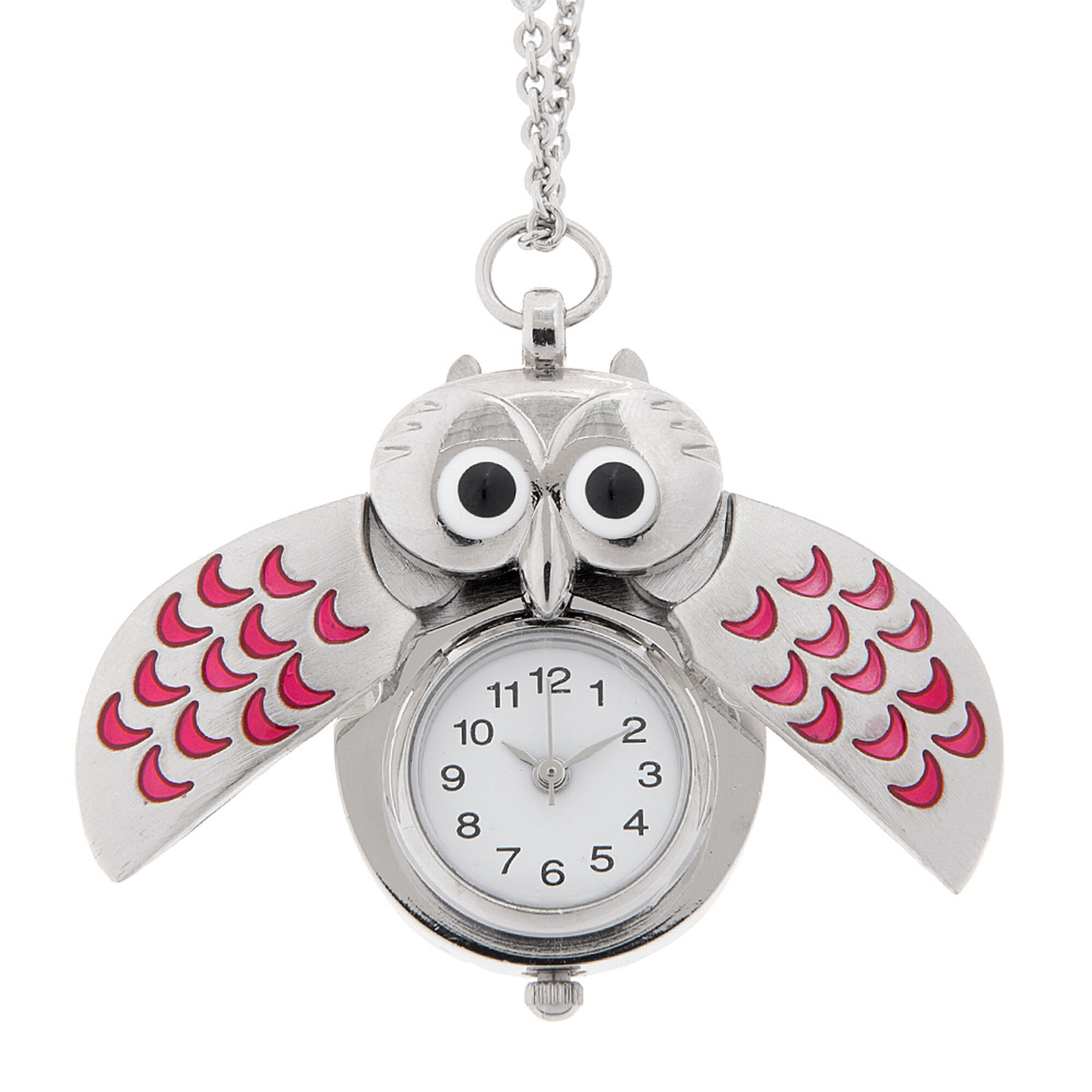 Silver owl watch pendant claires us silver owl watch pendant aloadofball Gallery
