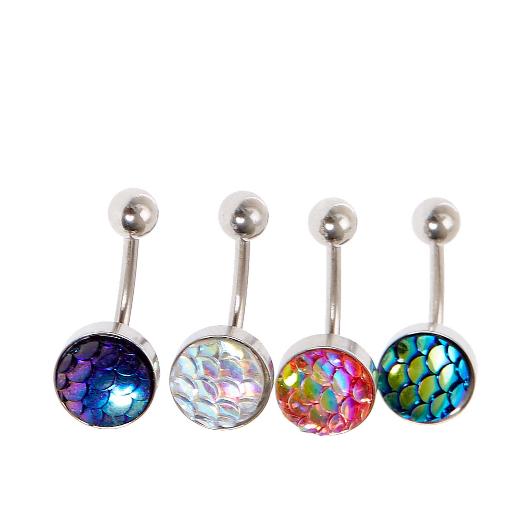 Mermaid belly button rings claire 39 s us for Belly button jewelry store