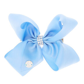 Jojos bows bright beautiful available at claires claires jojo siwa small rhinestone keeper cornflower blue hair bow sciox Choice Image