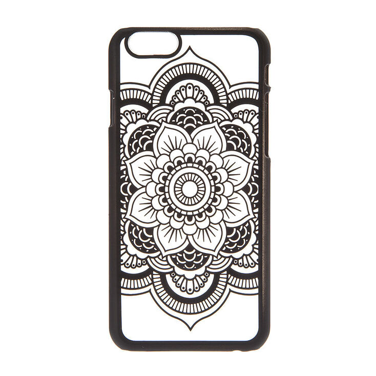 Frosted Black Mandala Phone Case Claire S Us