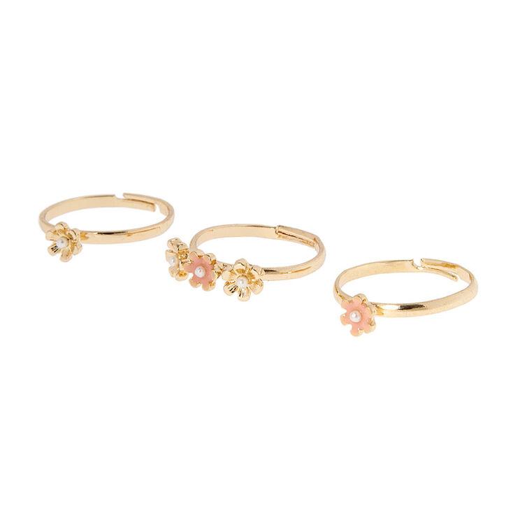 Gold Flower Nose Rings