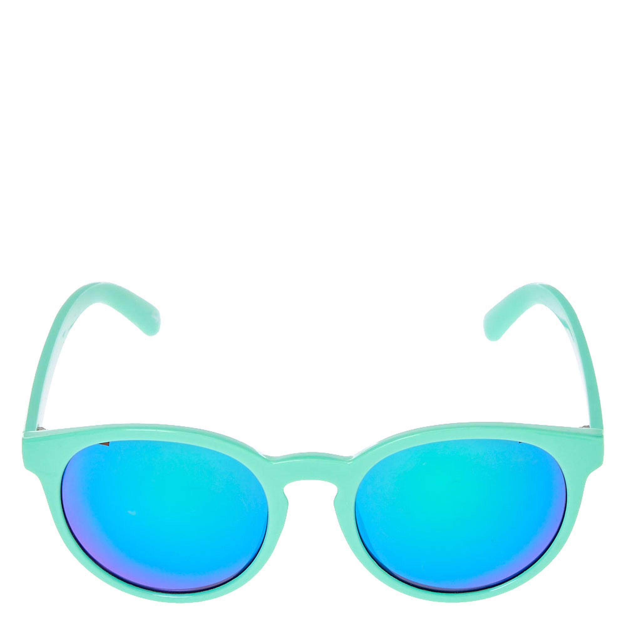Lunettes de soleil miroir yeux de chat vert menthe for Miroir des chats