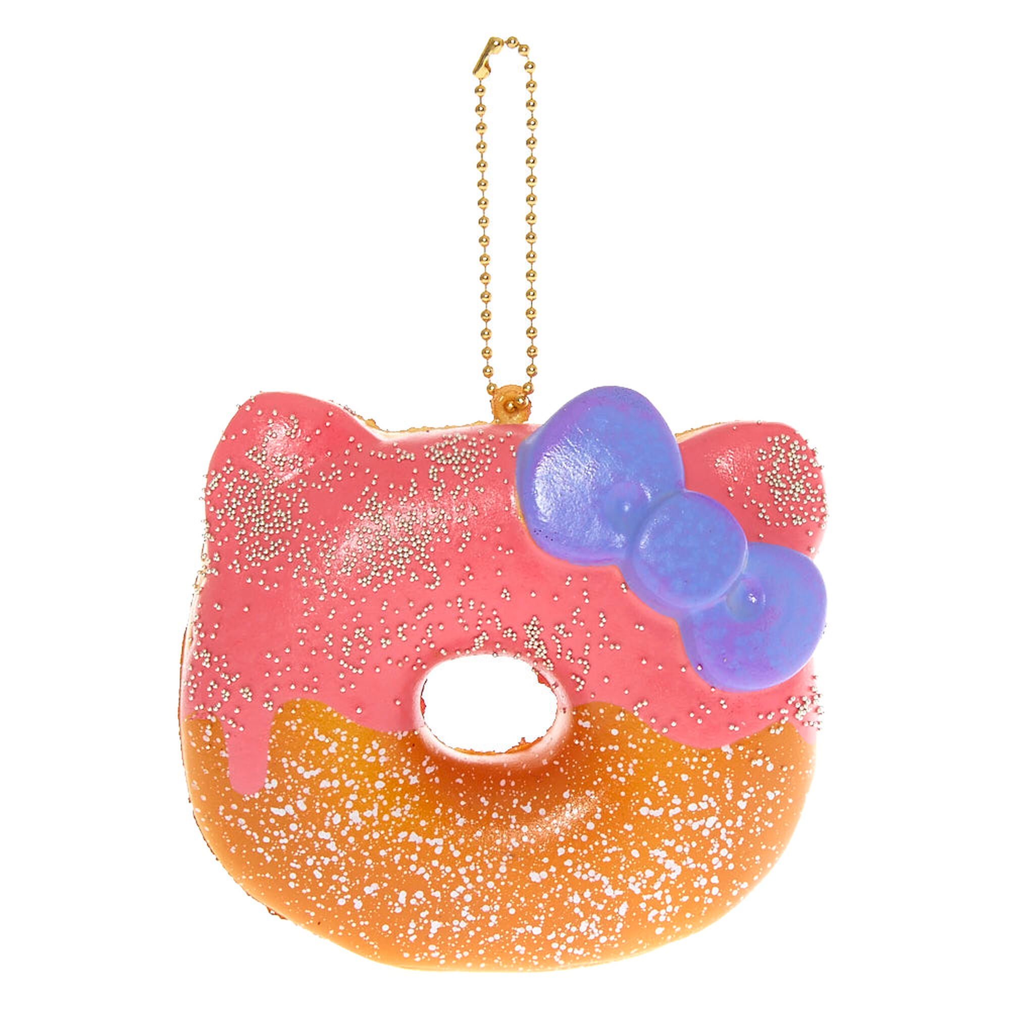 Squishy Hello Kitty Donut 2015 : Hello Kitty Squishy: Half Strawberry Donut Claire s US