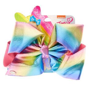 JoJo Siwa Metallic Pastel Rainbow Hair Bow,