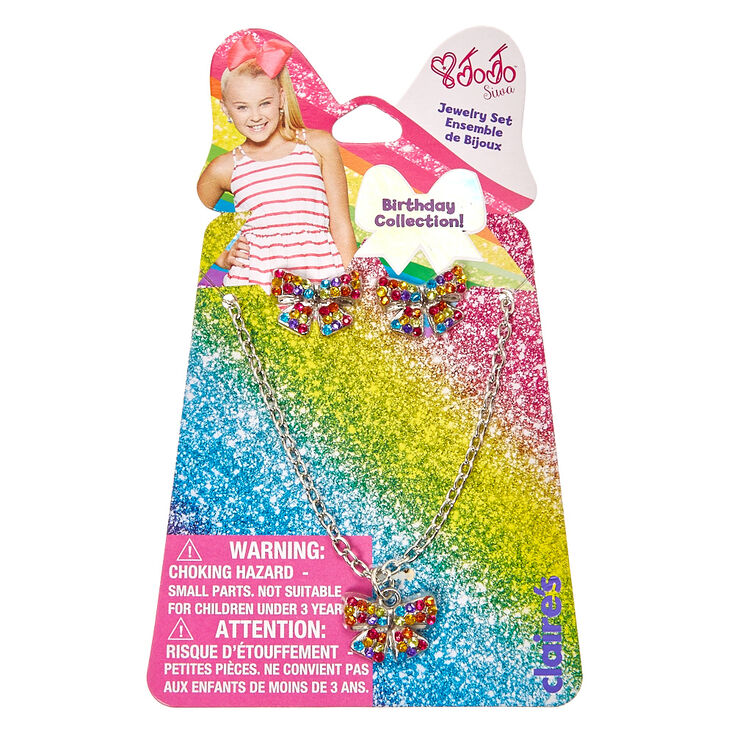 Jojo Siwa Rainbow Necklace Amp Earrings Set Claire S Us