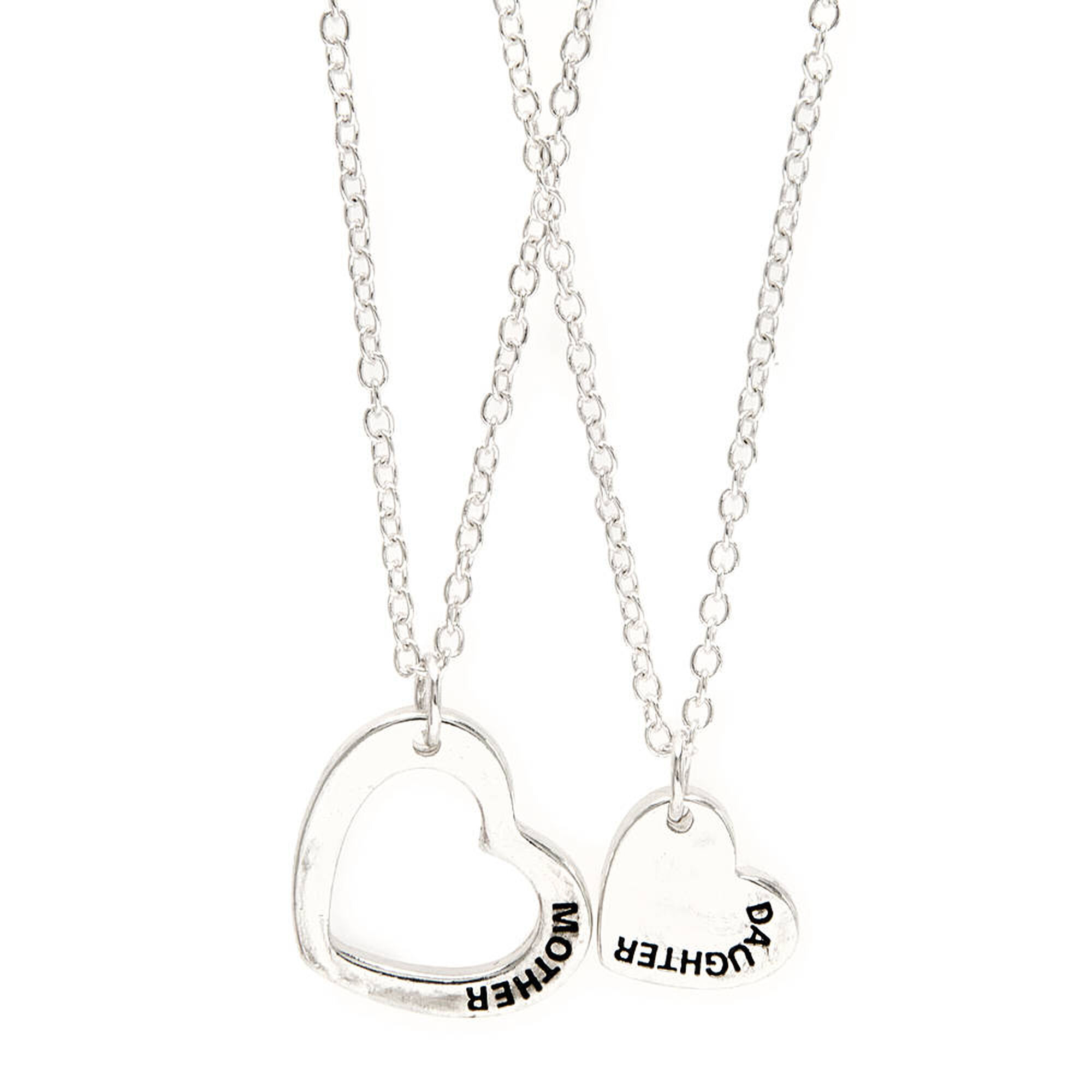 Mother daughter heart pendant necklaces claires us mother daughter heart pendant necklaces aloadofball Gallery