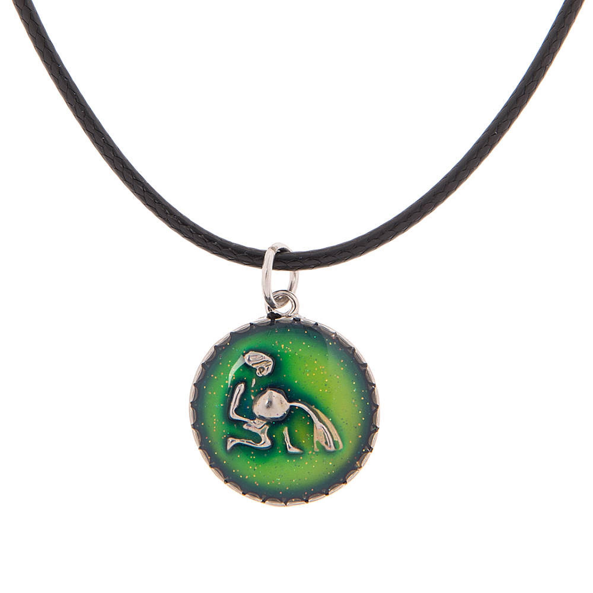 Aquarius zodiac mood pendant cord necklace claires us aquarius zodiac mood pendant cord necklace mozeypictures Image collections