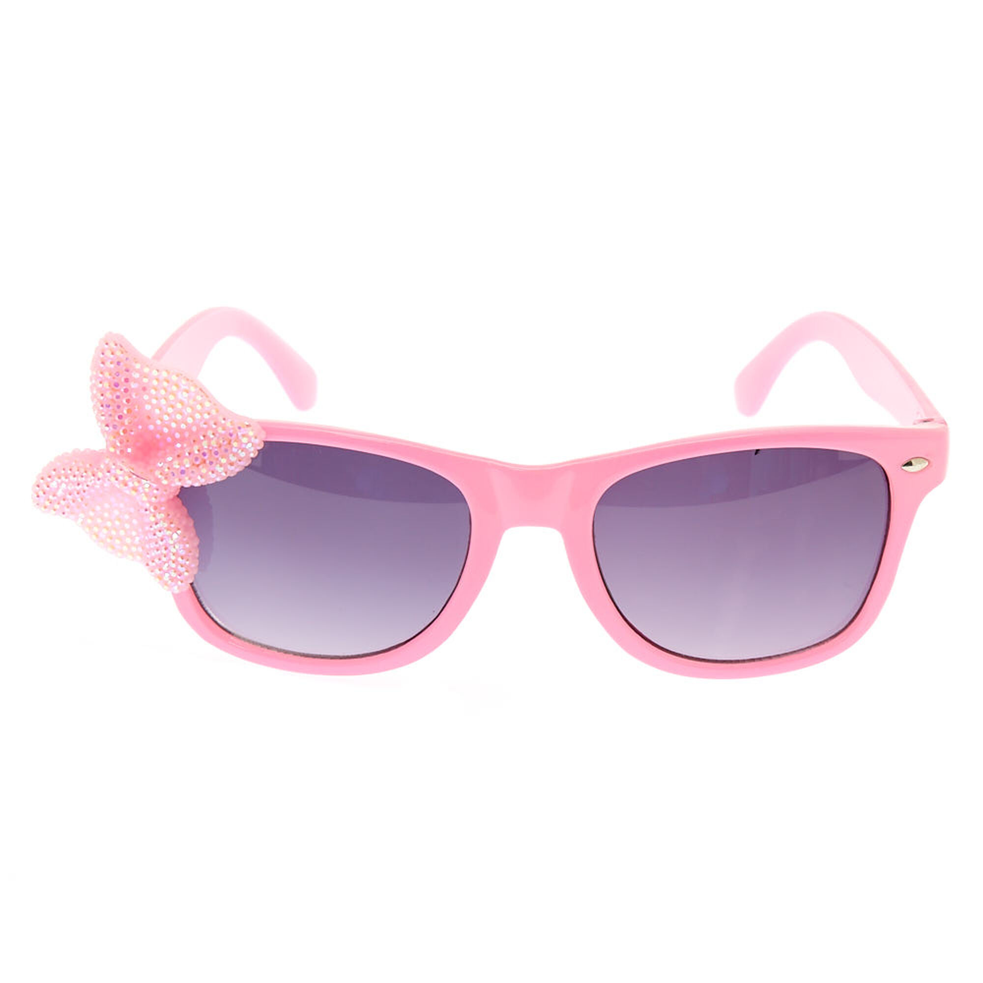 Kids Pink Sparkly Bow Sunglasses Claire S Us