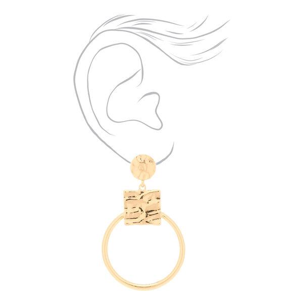 "Claire's - 2.5"" geometric drop earrings - 2"