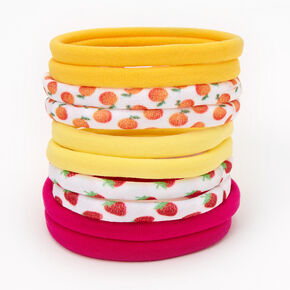 Fruit Assortment Rolled Hair Ties - 10 Pack,