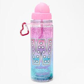 Initial Water Bottle - Pink, W,