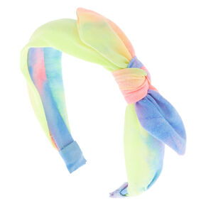 Glitter Tie Dye Knotted Bow Headband,
