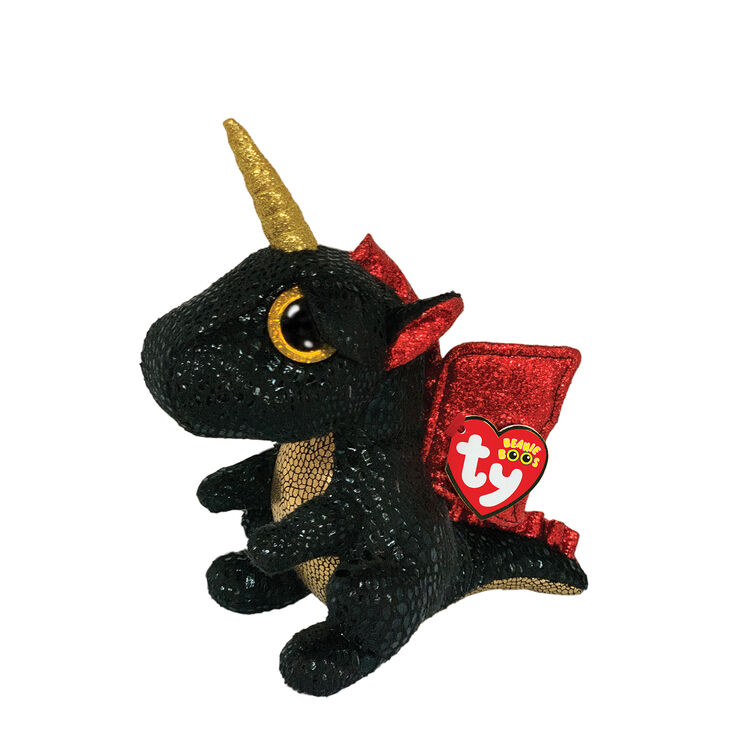 Ty Beanie Boo Small Grindal the Unicorn Dragon Soft Toy,