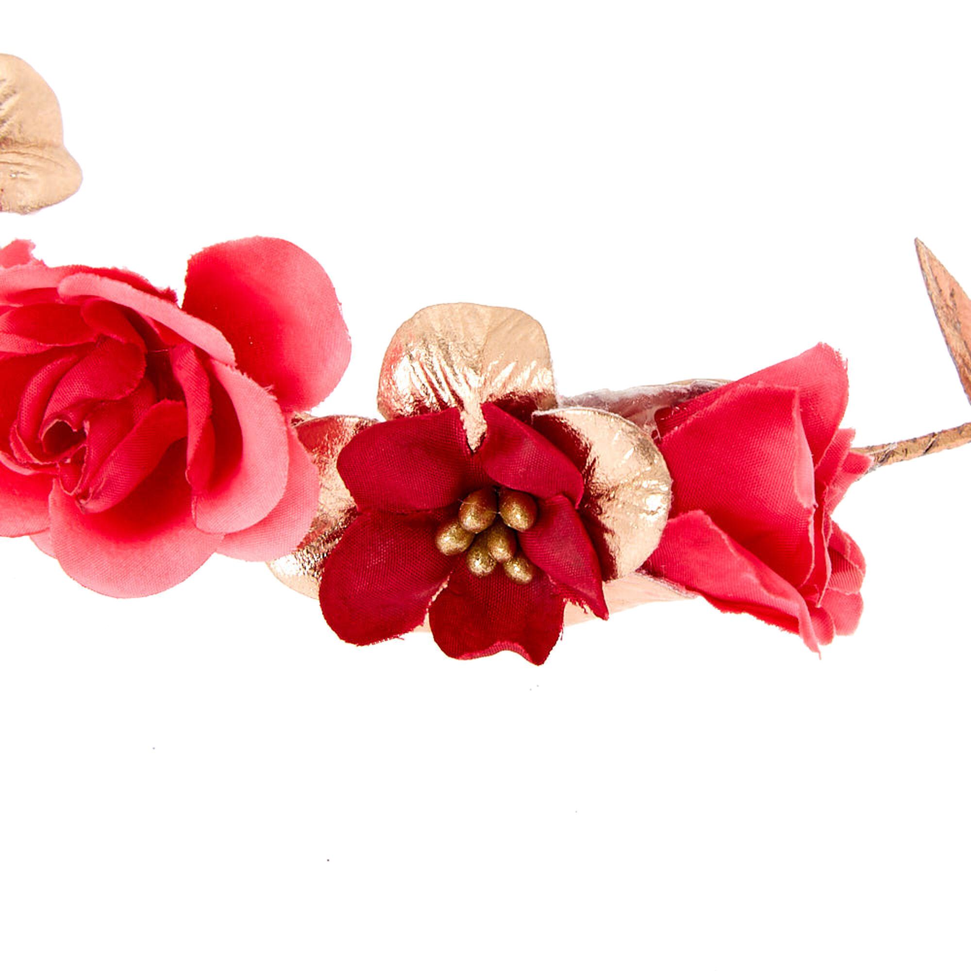 Rose gold flower crown tie headwrap fuschia claires us rose gold flower crown tie headwrap fuschia izmirmasajfo