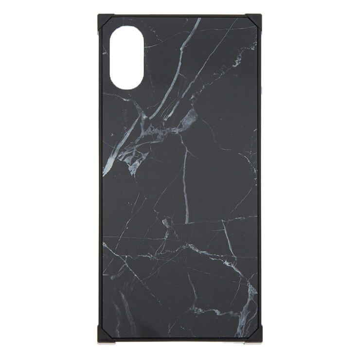 newest collection 5dcfe 3043a Black Marble Square Phone Case - Fits iPhone X/XS