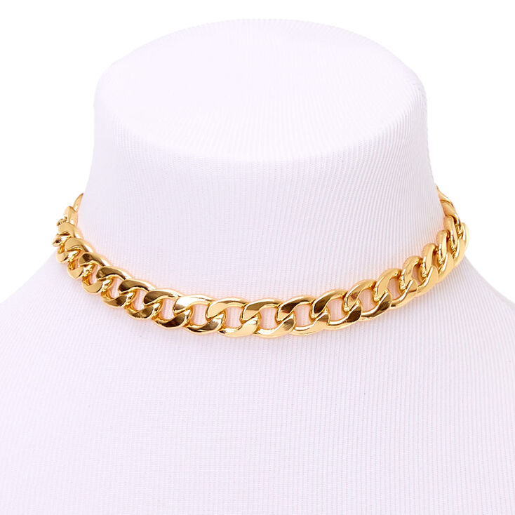 Gold Chunky Chain Necklace Claire S Us
