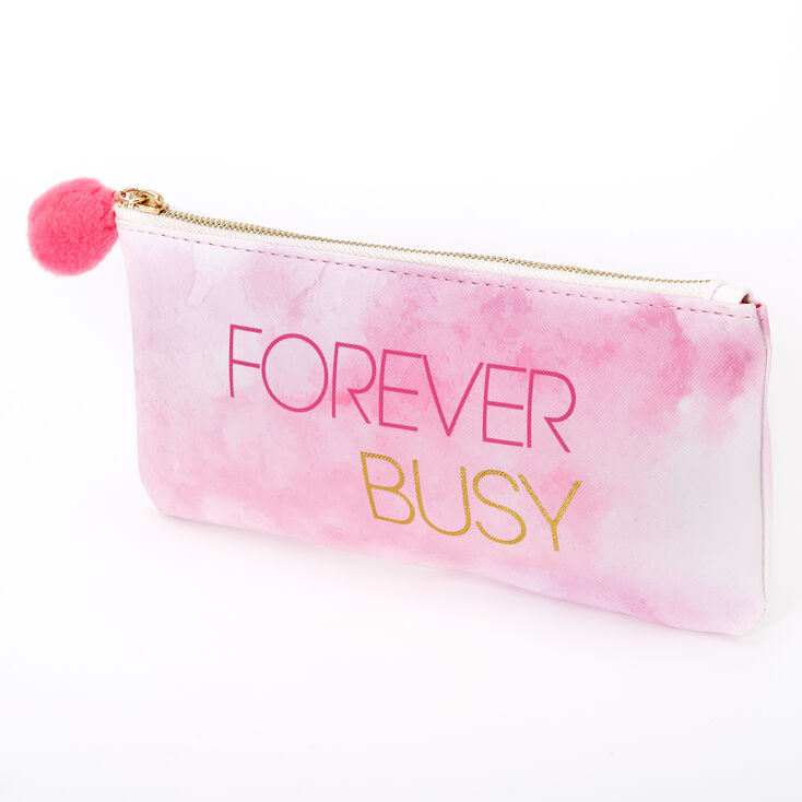 Forever Busy Pencil Case Pink Claire S