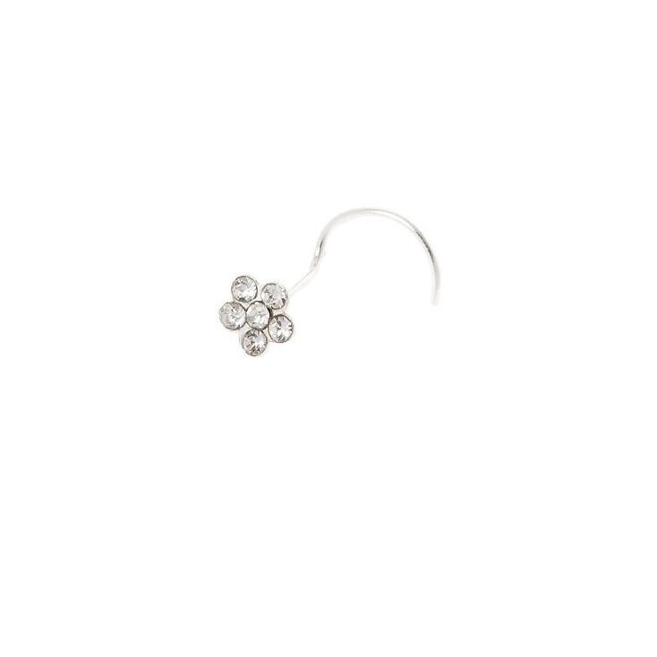 Sterling Silver 22G Daisy Nose Ring,