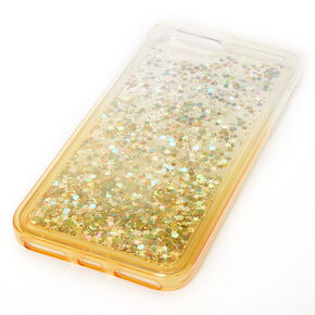 Gold Glitter Star Liquid Fill Phone Case - Fits iPhone 6/7/8 Plus,