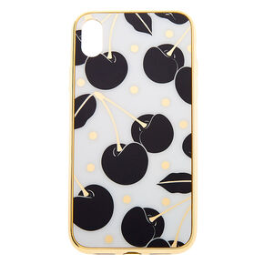 Go to Product: Black & White Cherry Protective Phone Case - Fits iPhone XR from Claires