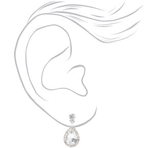 Silver Rhinestone Tiara & Teardrop Earring Set - 2 Pack,