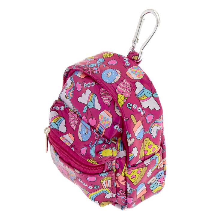 Porte-monnaie mini sac à dos porte-clés motifs licorne et fête foraine,
