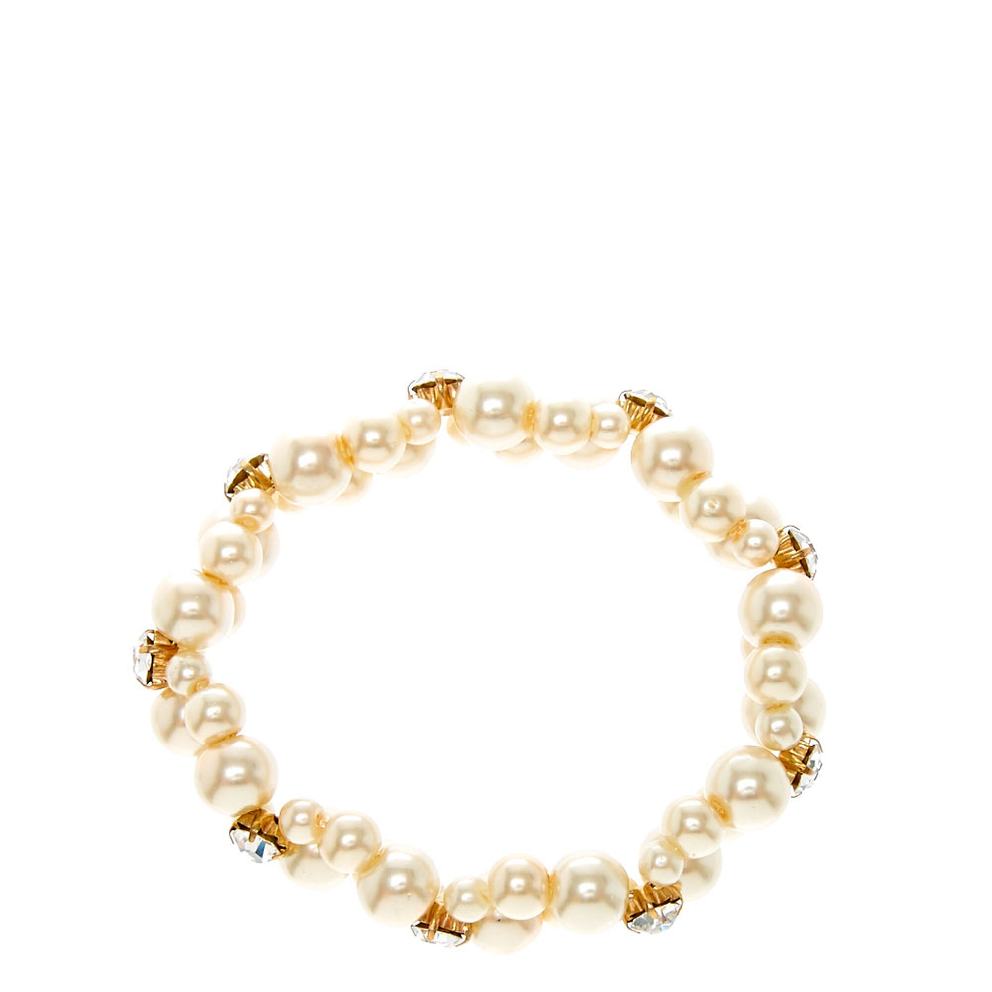 b84dfdd3a8cbf Double Row Faux Ivory Pearl Bracelet