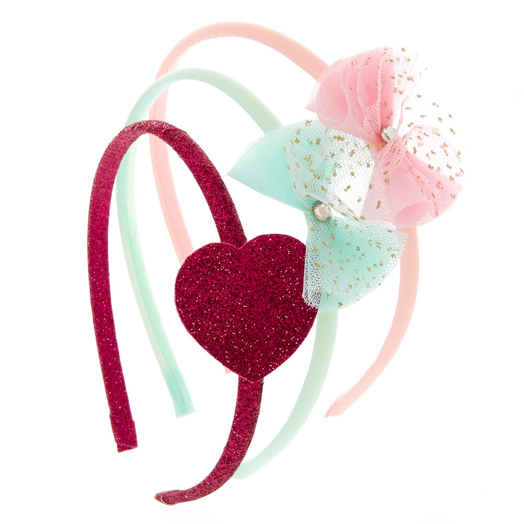 Claire s Club Bow Headbands - 3 Pack  cfeff747b76