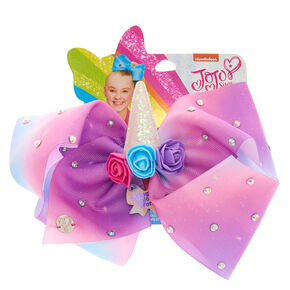 Gros nœud pour cheveux « Living in a Unicorn World » JoJo Siwa™ - Violet,