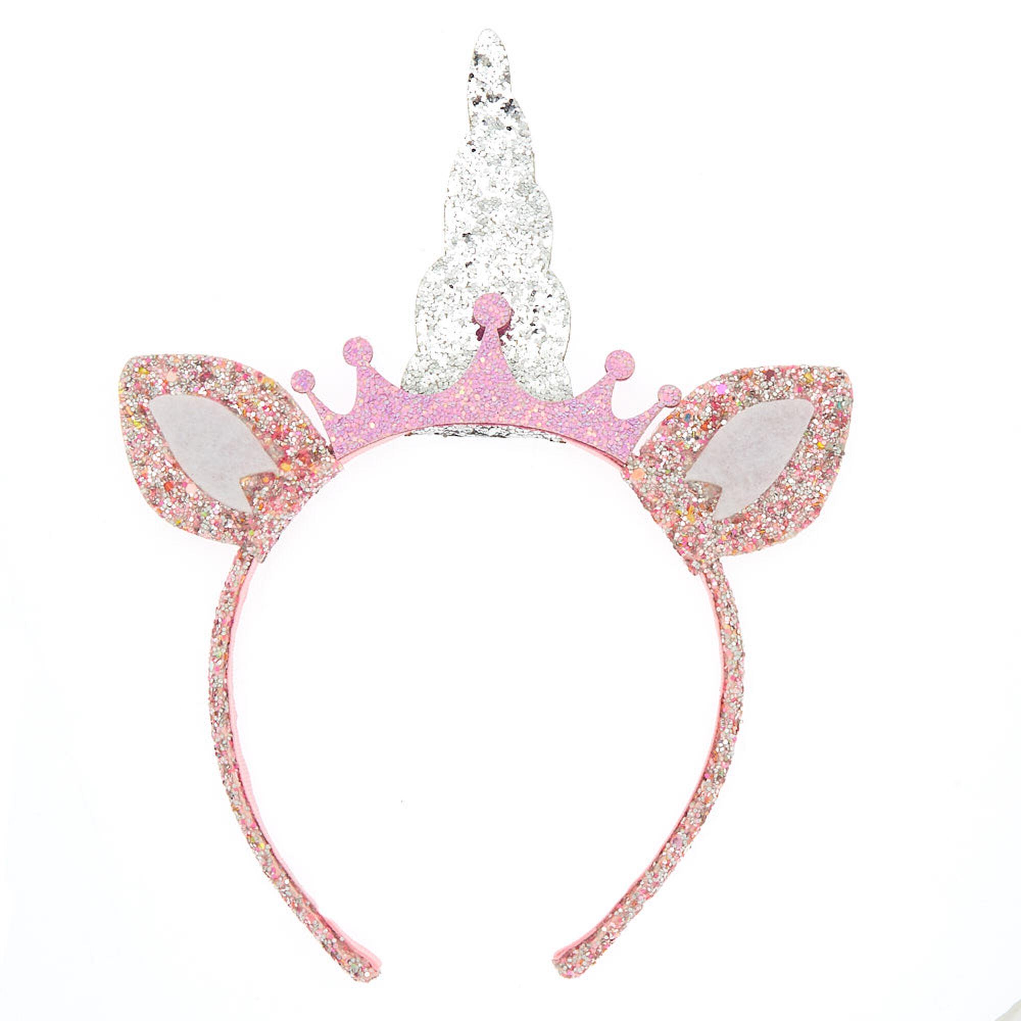 ... Claire  39 s Club Glitter Unicorn Headband ... 2d462ac295c