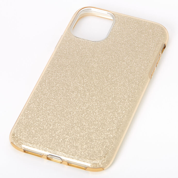 Gold Glitter Protective Phone Case - Fits iPhone 11,