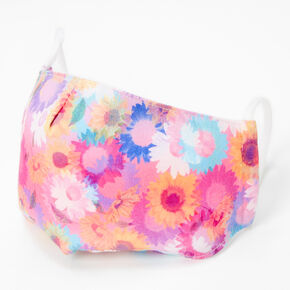 Cotton Rainbow Daisies Face Mask - Adult,