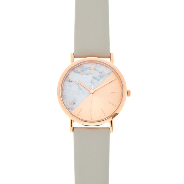 Claire's - rose & marble watch - 1