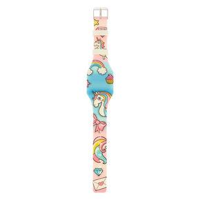 Glow in the Dark Rainbow Unicorn LED Watch,