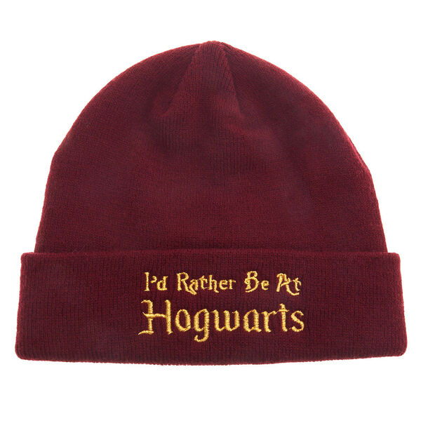 Claire's - harry potter™ i'd rather be at hogwarts beanie hat - 1