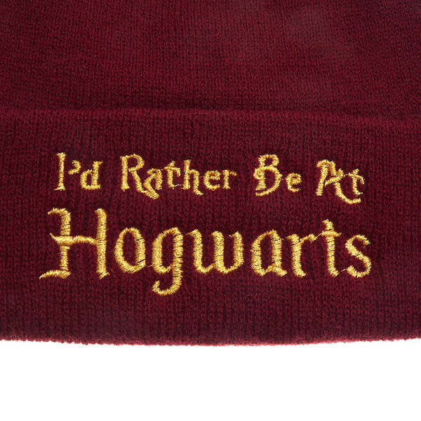 Claire's - harry potter™ i'd rather be at hogwarts beanie hat - 2