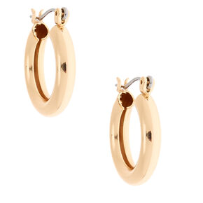 Gold 20MM Tube Hoop Earrings,
