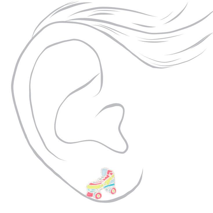 Retro Musical Pastel Stud Earrings - 6 Pack,