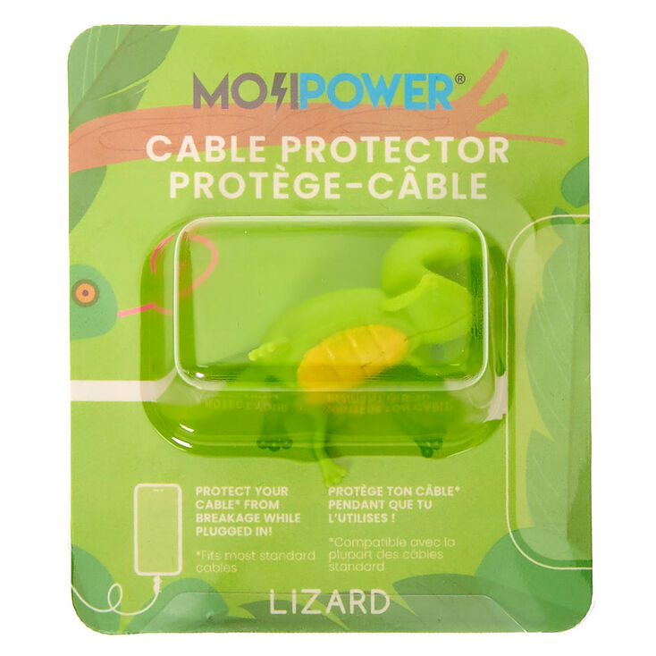 MojiPower® Lizard Cable Protector - Green,