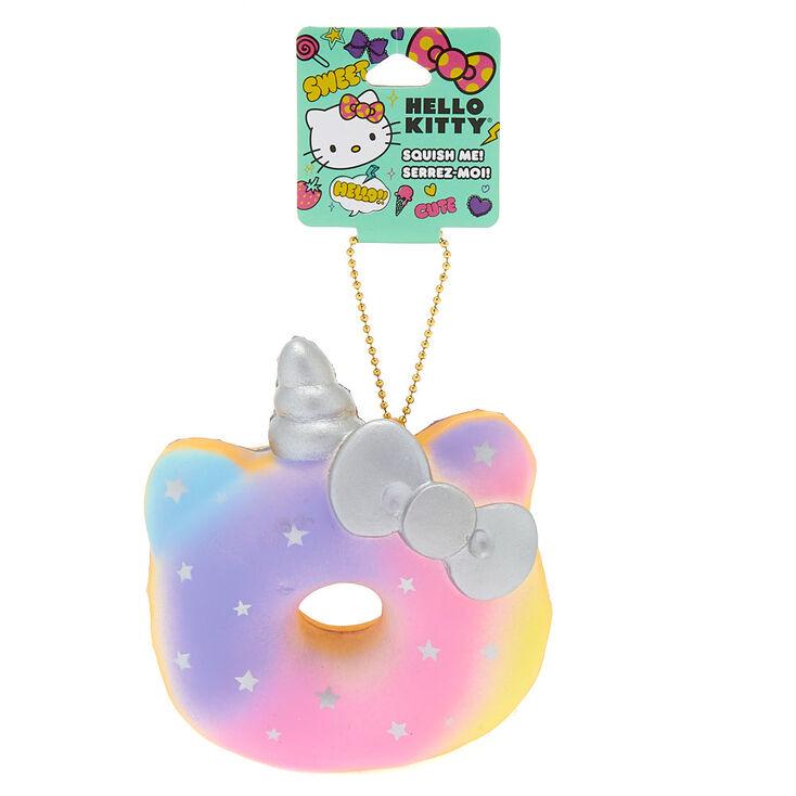 Hello Kitty® Rainbow Unicorn Donut Squish Keychain,