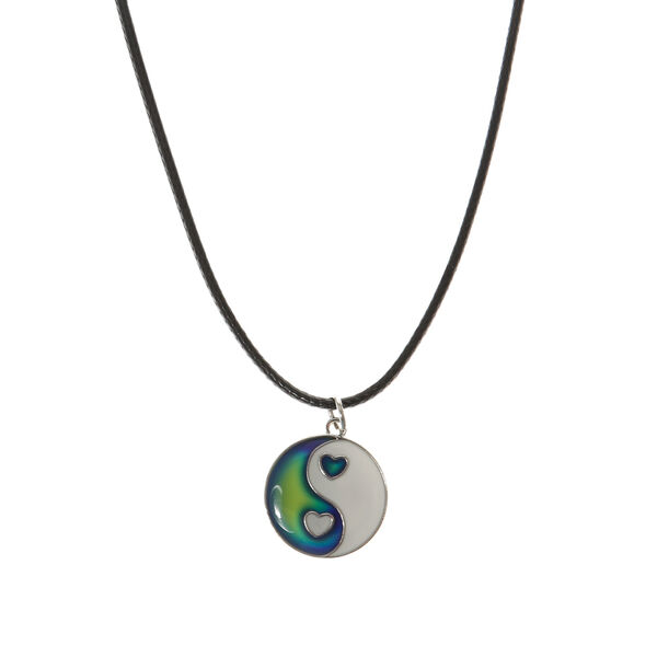 Claire's - heart yin yang necklace - 1