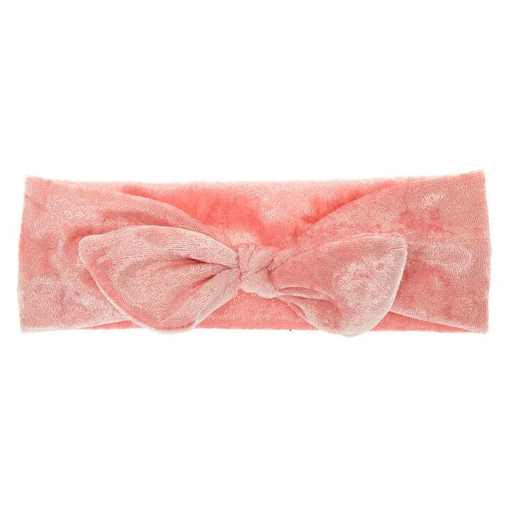 Claire's Club Velvet Tie Headwrap - Pink,