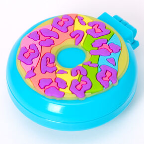 Rainbow Donut Pop Up Hair Brush - Blue,