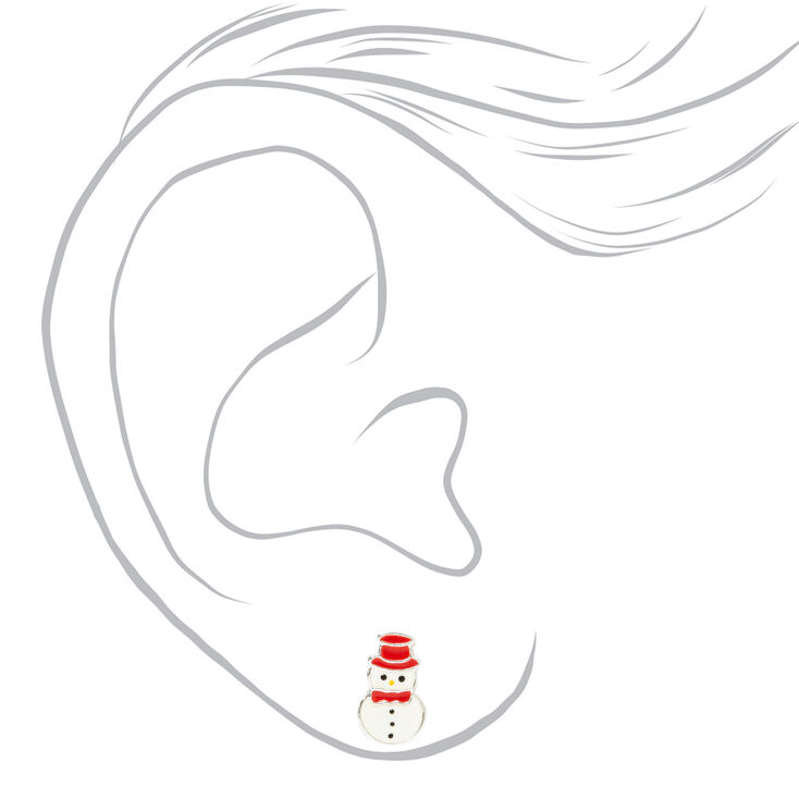 Sterling Silver Holiday Critter Stud Earrings - 3 Pack,