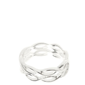 Silver Tone Double Loopy Ring,