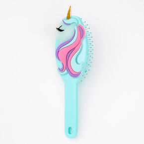 Unicorn Paddle Hair Brush - Mint,