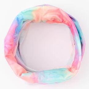 Pastel Tie Dye Headwrap/Gaiter,