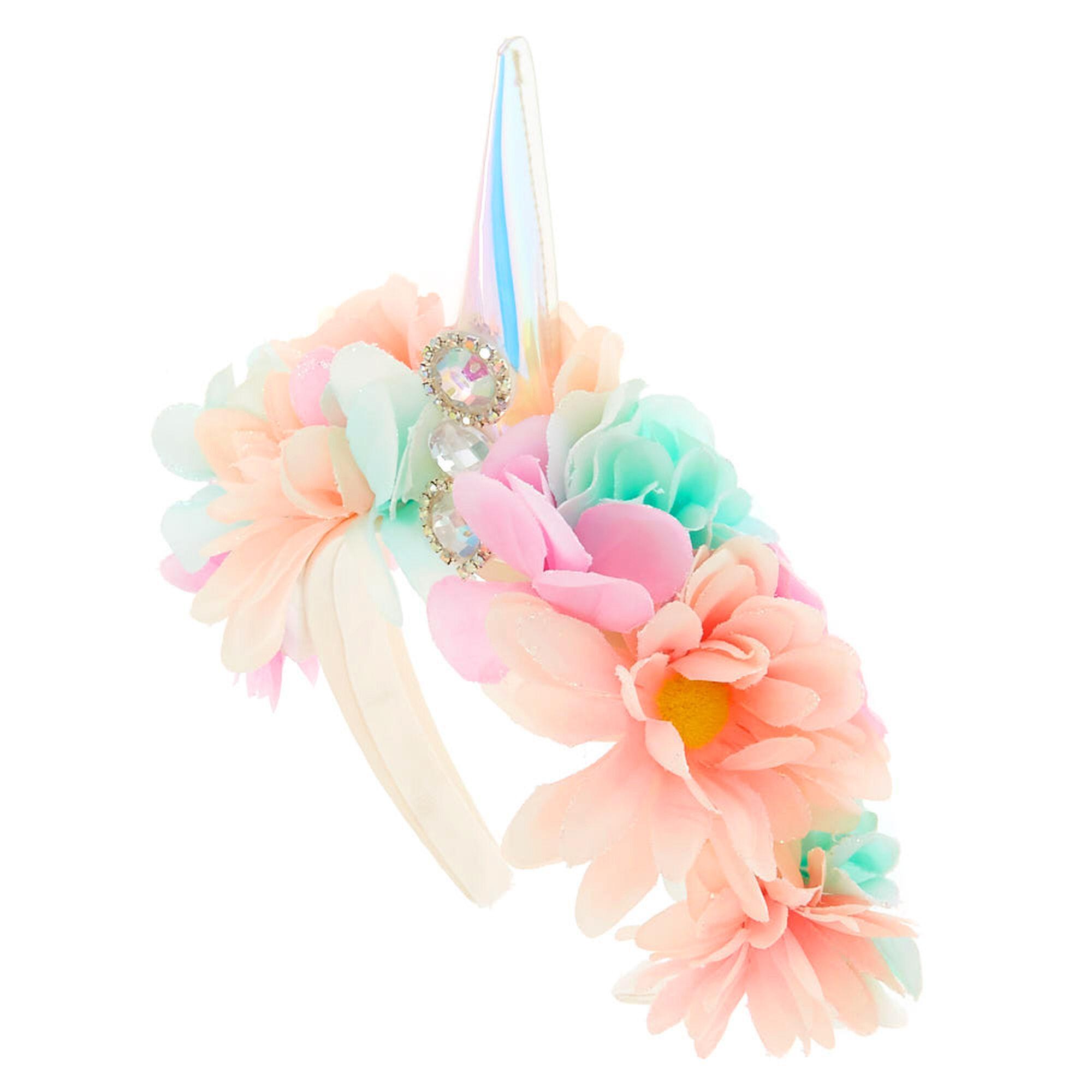 Light up unicorn flower crown headband claires us light up unicorn flower crown headband izmirmasajfo