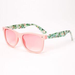 Lunettes de soleil feuille de palmier rétro - Rose,